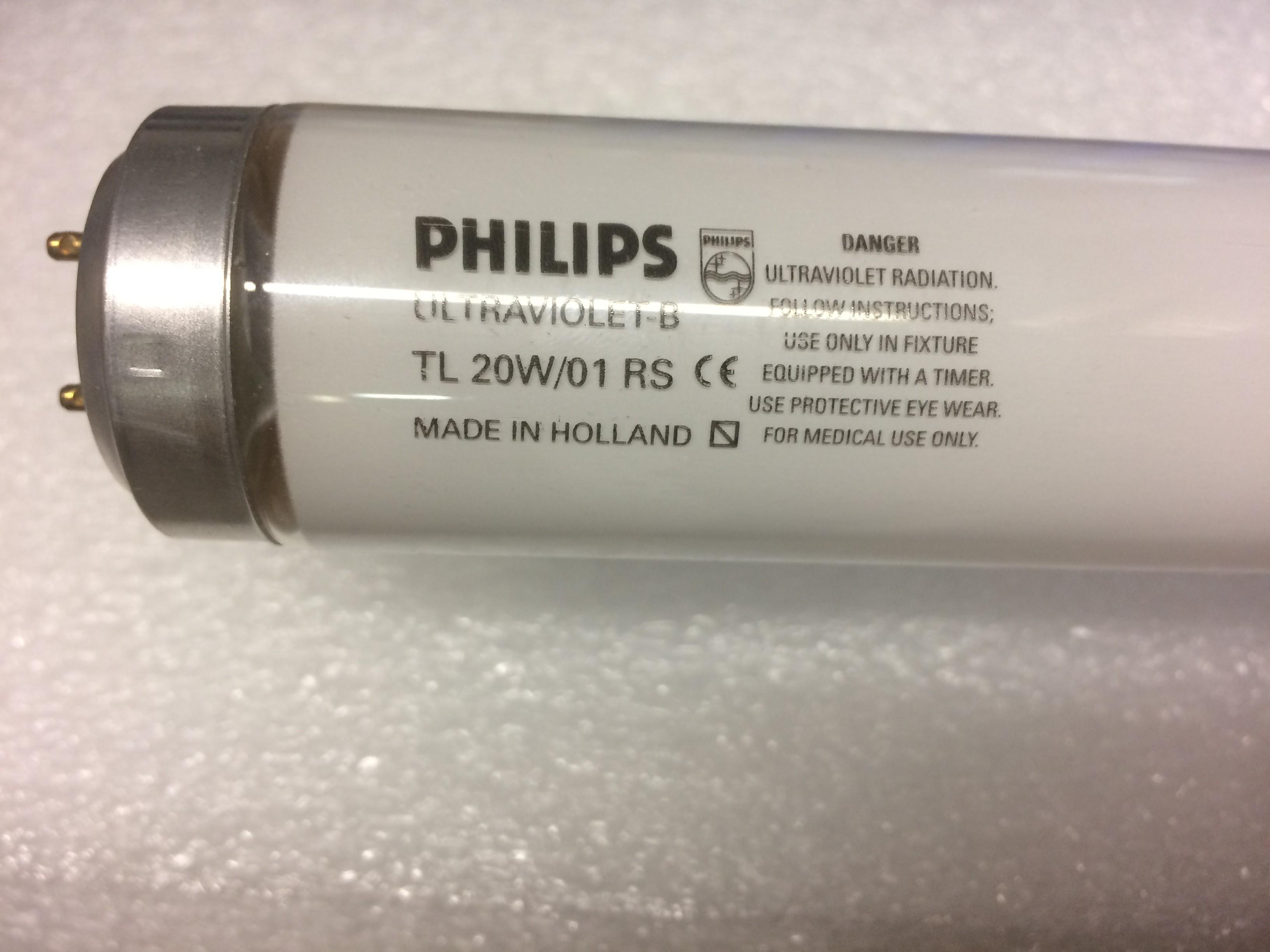 Lamp UVB TL20W/01 phototerapy psoriasis and vitiligo