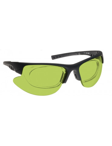 Combined Nd:Yag, Diode and Alexandrite Laser Safety Glasses Combined laser NoIR LaserShields YG4#34