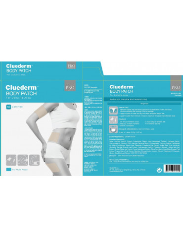 Cluederm cellulite reduction patch for abdomen and flanks