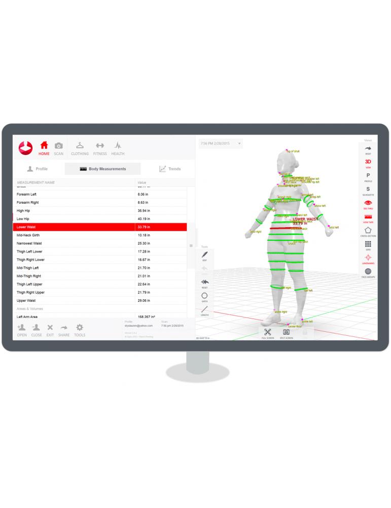 StykuScanner 3D Körperscanner für Styku-Körper