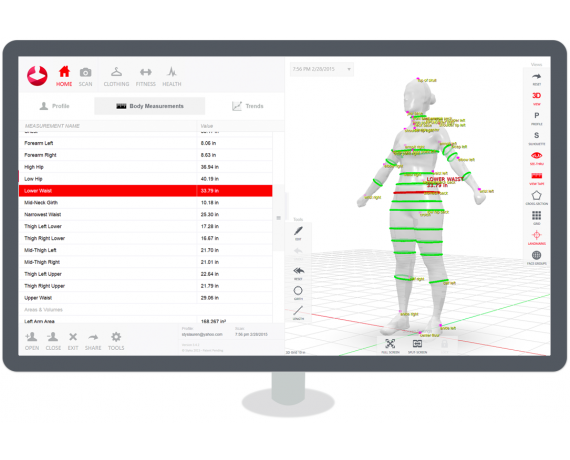 3D Full Body Scanner Styku