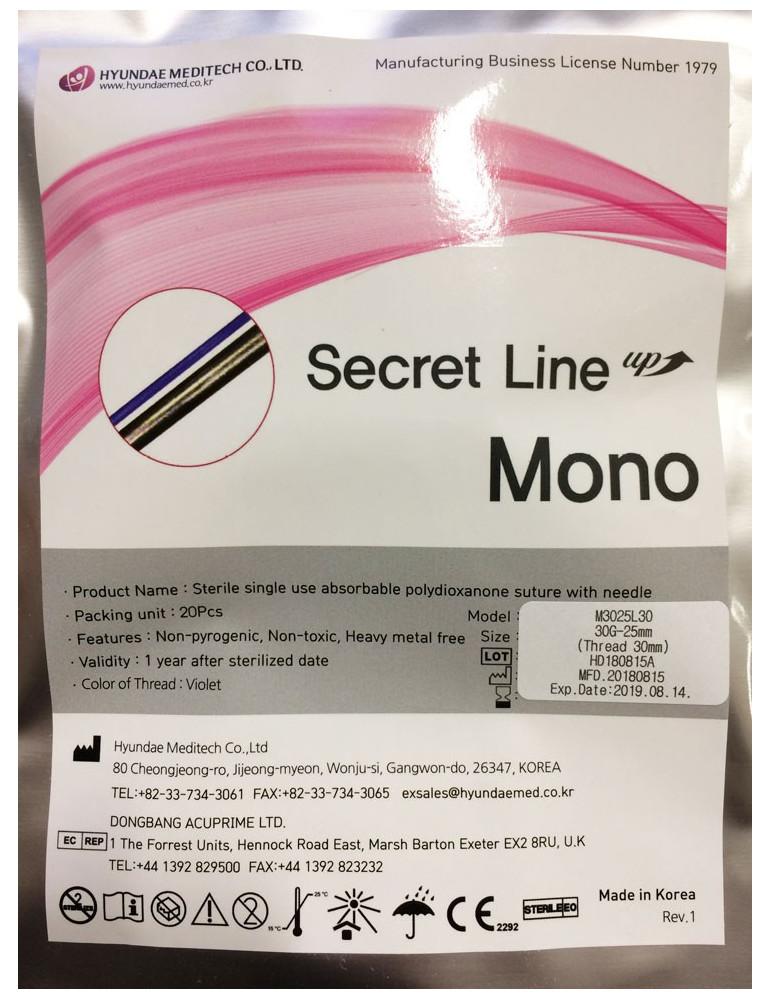 Secret Mono Aesthetic Biostimulation Threads 20pcs Biostimulation Threads Hyundae Meditech