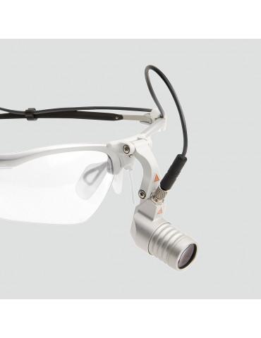 Lampada frontale Heine Microlight 2 con occhialiHome page HEINE J-008.31.276