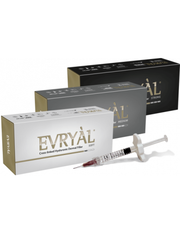 Evry-l Starter Pack 3 piezas Fuerte - Suave - Relleno medio IaluronicoFiller Cross-linked Apharm S.r.l. EVRYAL3PACK