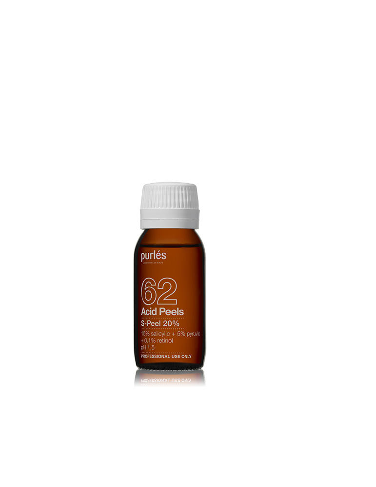 Purles 62 S-Peel chemical peeling with Salicylic Acid 15% pyruvic 5% 60 ml Chemical Peeling Purles PURLES62