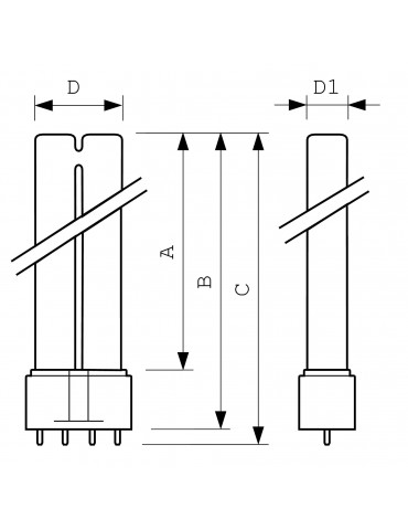 UVC TUV PL-L 36W/4P germicidal lamp UVC Lamps Philips