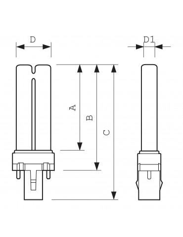 Lampada fototerapia UVB PL-S 9W/01/2PLampade UVB Philips PL-S 9W/01/2P 1CT