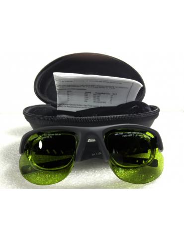 Lunettes pulsées à large bande légère avec lunettes frameNoIR LaserShields 2PL-34 supplémentaires