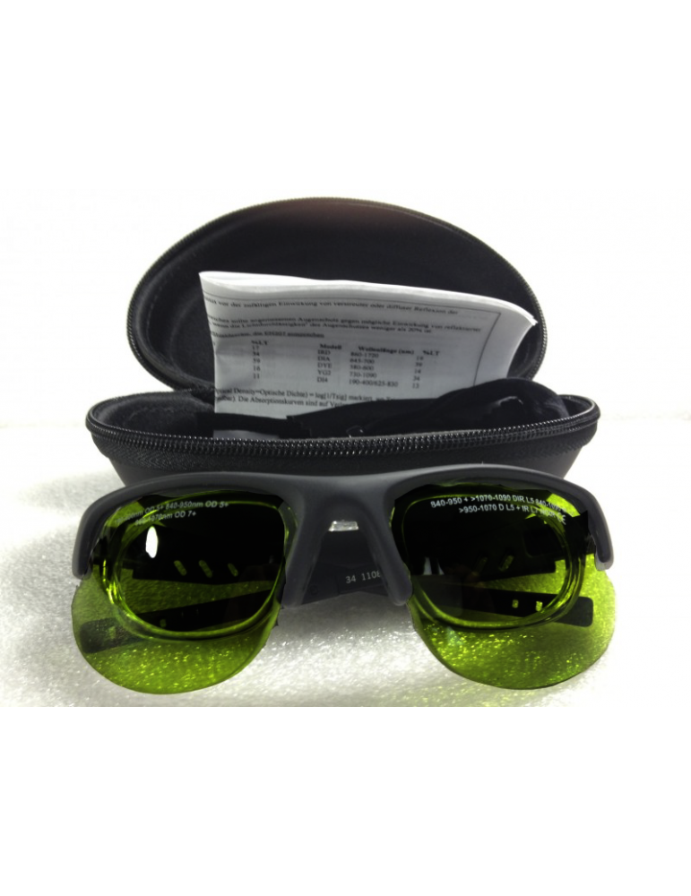 IPL pulsed light wide band Goggles with removable insert Wide Band Glasses NoIR LaserShields 2PL#34