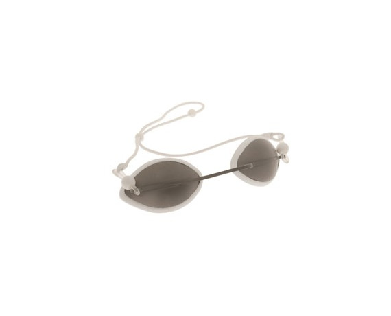 Laser patient eye protective goggles