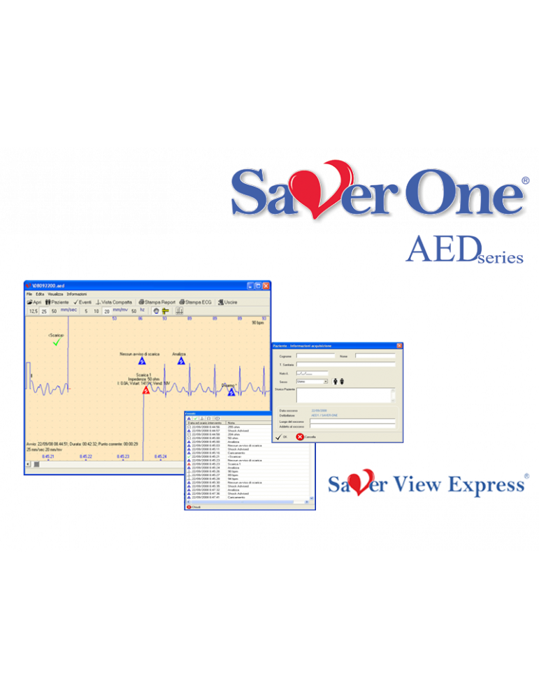 Saver View Express softwareAccessori Defibrillatori ami.Italia SAV-C0019