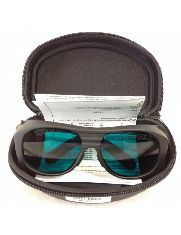 Lunettes de photothérapie LED patient - lunettes opérateurLED NoIR LaserShields ML3-33