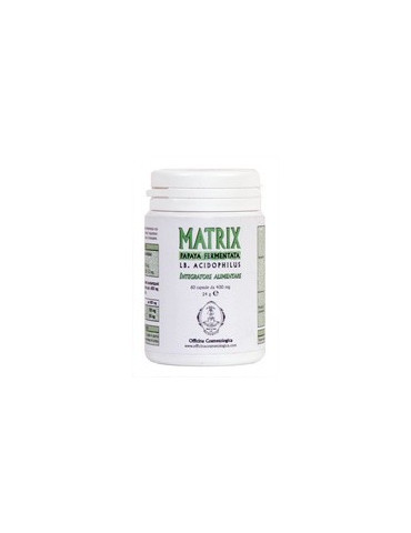 Food Supplement MATRIX Papaya Fermented and Lb Acidophilus Nutritional supplements Officina Cosmetologica
