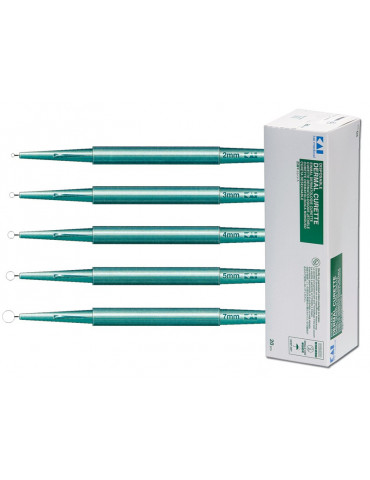 Curettes dermatologiques 2-7 mm 20 pz. Curette et Punch