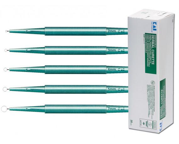 Curette Dermatologiche Ø 2-7 mm 20 pz.