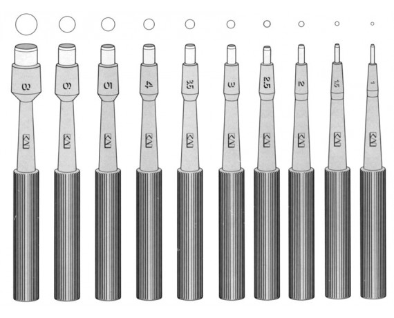 Biopsy Punches Ø 1-8mm 20 pcs.