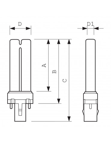 Lámpara de fototerapia UVA PL-S 9W/10/2PLampade UVA Philips