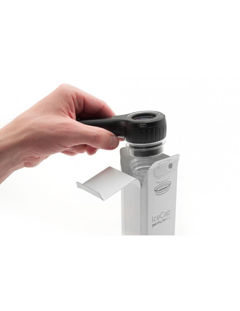 Housses Monouso Ice Cap pour Dermlite DL4Accessories et adaptateurs dermatoscope 3Gen ICDL4-25